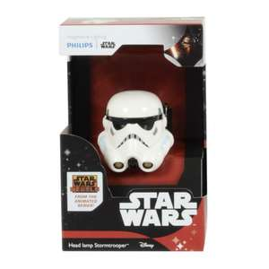 Star Wars Head Lamp Stormtrooper Helmet 2xLED Light Adjust Strap £1 instore @ Poundland