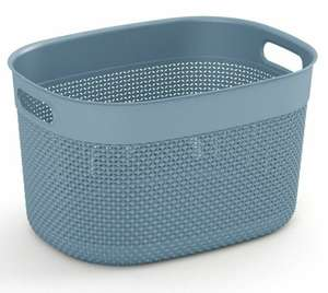 Curver Filo Storage Basket - Grey/Rose/Ivory - L - £3.09 + Free Click & Collect (More in OP) @ Robert Dyas