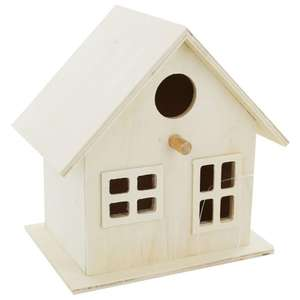 Wooden Birdhouse - £3 + Free Click & Collect @ The Works