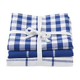 Robert Dyas - Stow Green Pack of 3 Tea Towels - Blue Checks - £2.25 With Code - Free C&C £2.25 @ Robert Dyas