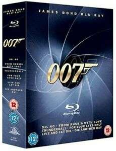 James Bond Blu-ray Collection [1962] Pre-owned £4.08 delivered @ worldofbooks08 ebay