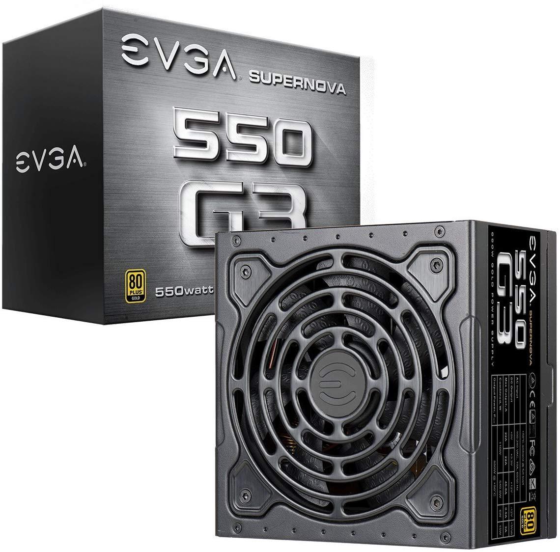 EVGA SuperNOVA 550 G3, 80 Plus Gold 550W, Fully Modular 10 Year Warranty Power Supply @ Amazon - £64.99