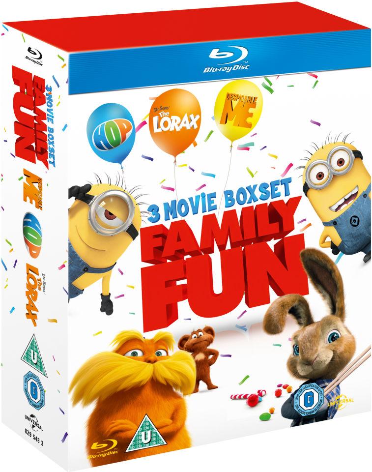 Dr Seuss The Lorax, Despicable Me, Hop (3 Movie Boxset) Blu-Rays £3.99 @ Amazon UK Prime / £7.98 non Prime