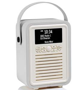 VQ Retro Mini DAB+ Digital & FM Radio with Bluetooth at Robert Dyas for £39.99