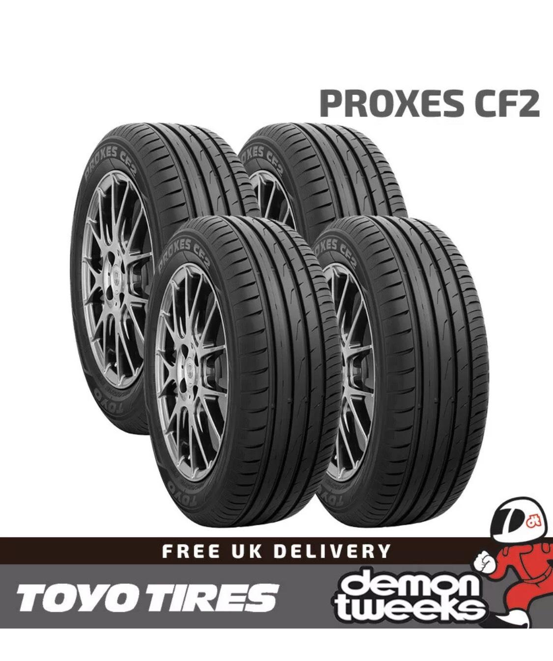 4 x Toyo 195 50 15 82H Proxes CF2 High Performance Road Tyres 1955015 £97.78 at Ebay/DemonTweeks