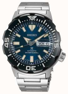 Seiko Prospex Monster Automatic Divers 4th gen, Stainless Steel Bracelet - £308 delivered at First Class Watches