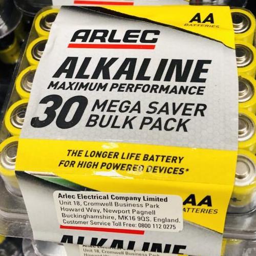 30 AA or AAA Arlec Alkaline Batteries £2.10 @ Homebase Altrincham