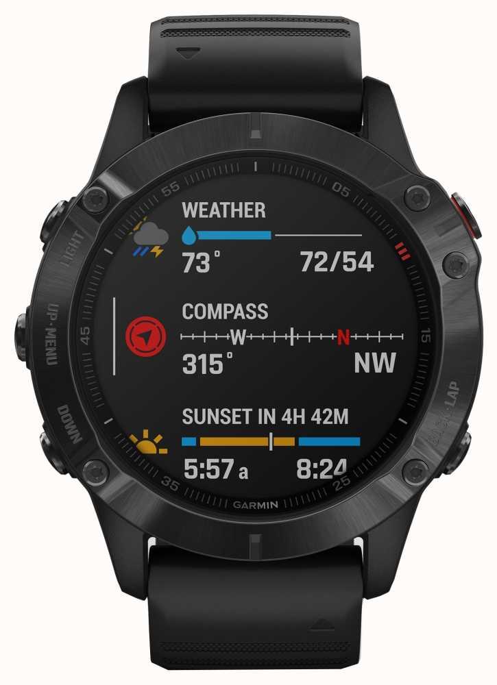 Garmin Fenix 6 Pro | Multisport Smartwatch | Black Rubber Strap £509.15 at First Class Watches