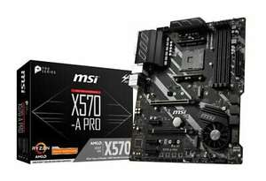 MSI X570-A PRO AM4 DDR4 ATX Motherboard £127.27 (using code) @ Ebuyer / Ebay