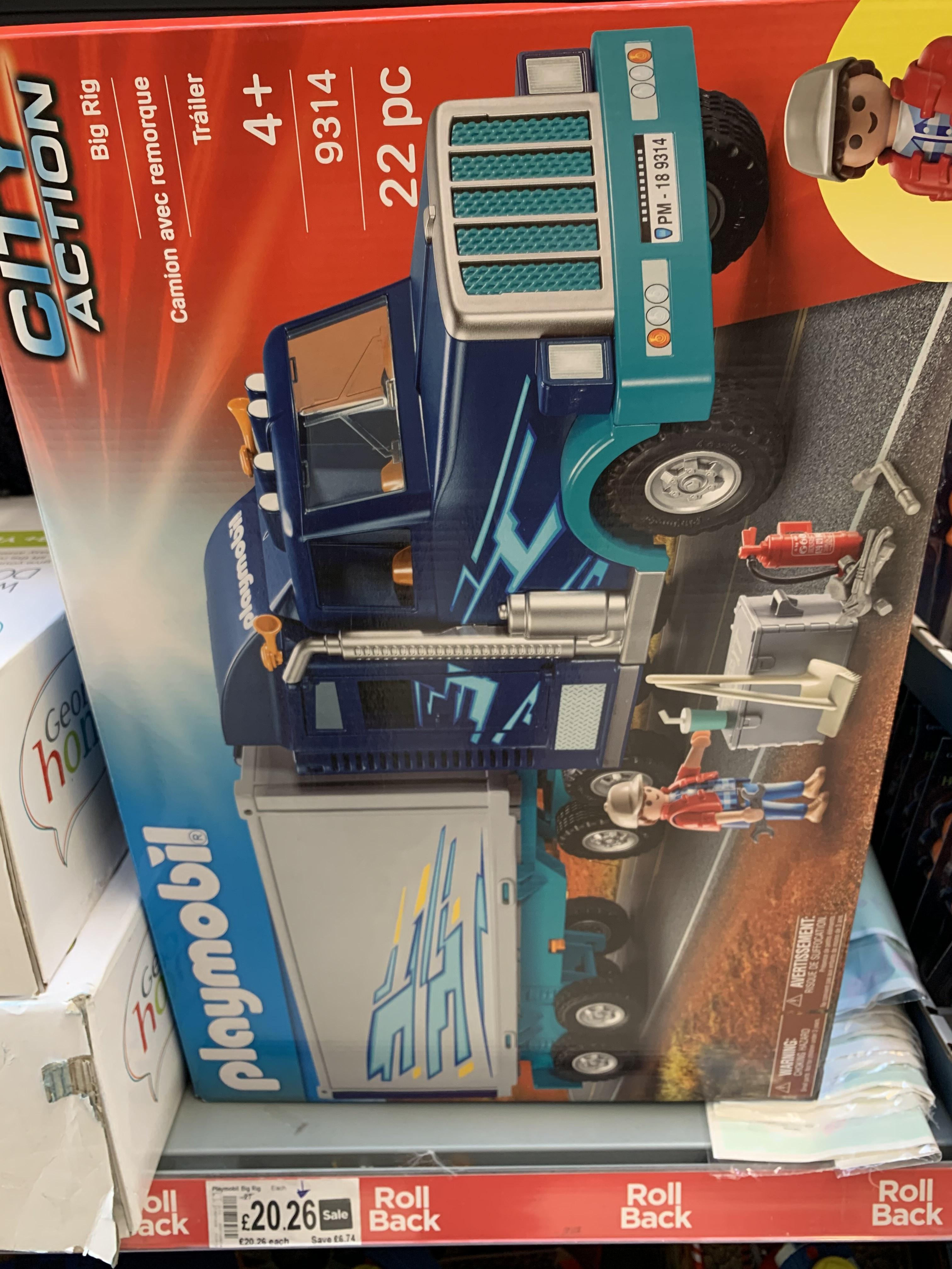 Playmobil City Action Big Truck 9314 £20.26 at Asda Pembury
