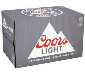 Coors light x24 bottles £12 instore @ Asda Pontefract
