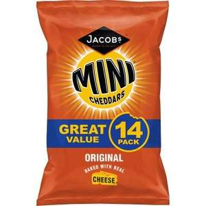 Mini Cheddars 14x 25g pack £2 at Poundland London