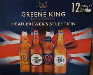 Greene King Head Brewers Selection 12 x 500ml bottles - £12.99 at Lidl (Leeds / national)