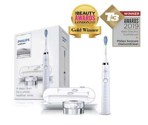 Philips Sonicare DiamondClean Electric Toothbrush, 2019 Edition, White with USB Travel Charge £89.99 @ Amazon