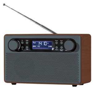 Daewoo Large Wooden DAB+/Fm Radio £20.00 - £3.95 delivered or Free C+C (including Rymans.)