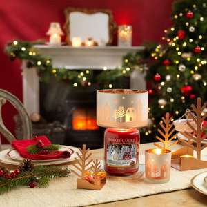 Official Yankee Candle Winter Village Christmas Large Festive Glass Shade & Tray Decoration Accessory Set £10 @ Yankee Bundles