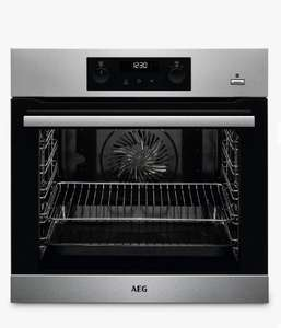 AEG BPS355020M Built-In Single SteamBake Electric Oven, Stainless Steel £369 John Lewis & partners