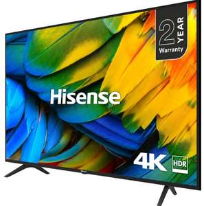 "Hisense H55B7100UK (2019) LED HDR 4K Ultra HD Smart TV, 55"" with Freeview Play, Black/Silver + 5 Year Warranty- £349 @ John Lewis & Partners"