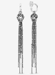 Ornate Hearts Tassle Earrings - £59 @ Pandora