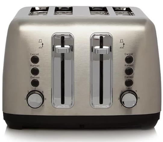 George Home 4 Slice Toaster - Stainless Steel £16 @ Asda Liverpool
