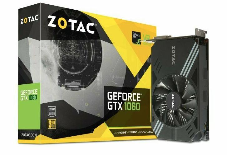 Zotac Geforce GTX 1060 Mini 3GB GDDR5 Graphics Card £125.50 @ Ebuyer / Ebay