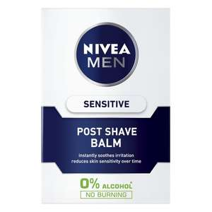 NIVEA MEN Sensitive Post Shave Balm with 0% Alcohol 100ml £2.50 at Morrisons
