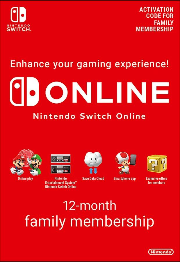 Nintendo Switch Online 12 Month Family Membership£24.85 @ ShopTo.Net