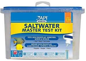 API Saltwater Master Test Kit 550 -Test Saltwater Aquarium Water Test Kit £14.98 at Amazon Prime / £19.47 Non Prime
