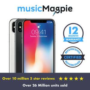 Apple iPhone X (iPhone 10) - 64GB - Refurb 'Good' Condition 12m Warranty - eBay/Music Magpie - £334.99 with code