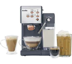 BREVILLE One-Touch VCF109 Coffee Machine - Graphite Grey & Rose Gold £149 at Currys PC World (Collect in store only)