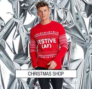 40% off Christmas Jumpers + £1 delivery with Code, Jumpers from £11.80 Delivered @ BoohooMan