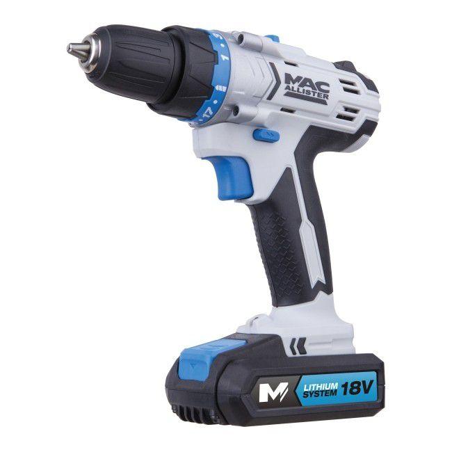 Mac Allister MSDD18-Li-2 18V 1.5Ah Li-Ion Cordless Drill Driver £35.99 @ Screwfix
