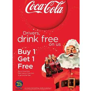Coca Cola Designated Driver campaign Buy One Get One Free Back from 1st - 31st December
