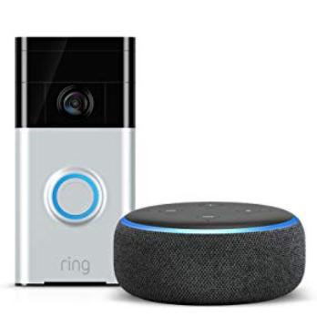 Echo Dot (3rd Gen) Charcoal plus Ring Video Doorbell - £89 @ Amazon