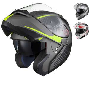 Black Optimus SV Tour Max Vision Flip Front Motorcycle Helmet £49.87 Delivered with code @GhostBikes