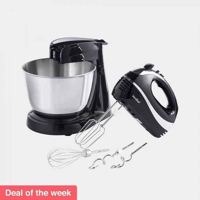 VonShef black 300W Hand & Stand mixer for £26.24 delivered @ VonShef