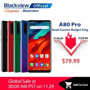 Blackview A80 Pro - Launch Offer - Helio P25, 4/64gb, 4680mAh - Ali Express (BLACKVIEW Official Store) - £61.73