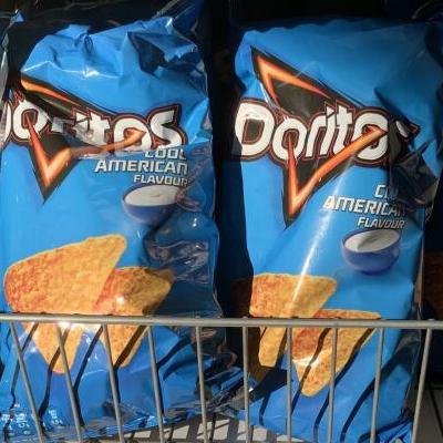 Doritos 186g bag cool American flavour / sweet chilli pepper 79p @ Home Bargains Swansea, Parc Tawe store