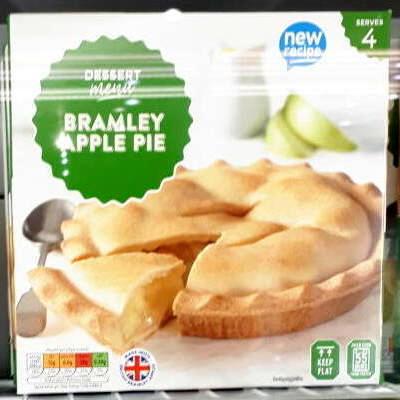 Dessert Menu frozen Bramley apple crumble / apple pie 85p at Aldi