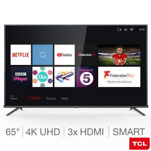 TCL 65EP648 65 Inch 4K Ultra HD HDR PRO with Freeview Play and Smart TV 3.0 £499.99 @ Costco
