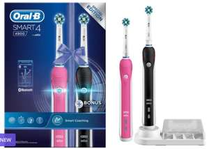 Oral-B Smart 4 4900 Electric Toothbrush Duo Pack £51.49 delivered @ Groupon