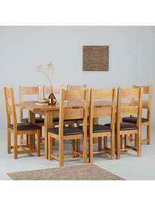 Solid Wood Extending Dining Table + 8 Chairs £399 @ Very