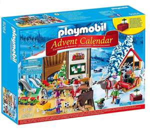 Playmobil Advent Calendar 'Santa's Workshop' with Electronic Lantern £11.99+ £4.49 delivery Non Prime @ Amazon more in post