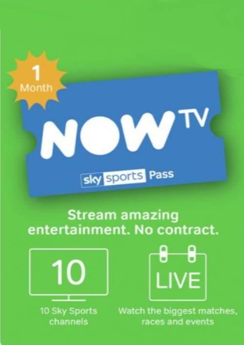 NOW TV – 1 Month Sports Pass £23.99 (A 1 week pass £9.49) @ CDKeys