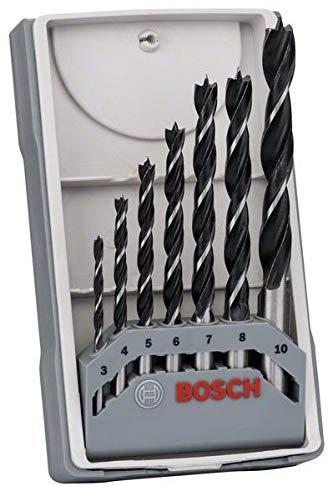 Bosch 3/4/5/6/7/8/10 mm Wood Drill Bit Set - £3.47 at Amazon Prime (+£4.49 Non Prime)