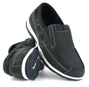 Mens Real Leather Casual Slip On Boat Deck Mocassin Loafers Driving Shoes Size £17.95 @ Ebay / workboots-uk