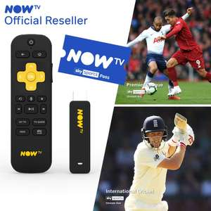 NOW TV Smart Stick + 1 Month Sky Sports Pass £19.99 + (£4.49 delivery Non Prime) @ Boss Deals/Distribution Fulfilled by Amazon