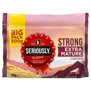 Seriously Strong Extra Mature Cheddar 500g - £2 (£4 a kilo) @ Iceland
