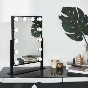 Hollywood style 12 Bulb LED Mirror - £37.99 delivered @ Beautify