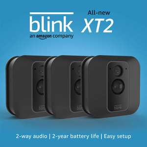 All-new Blink XT2 | Outdoor/Indoor Smart Security Camera with Cloud Storage 2-Way Audio 2-Year Battery Life 3-Camera System £194.99 @ Amazon